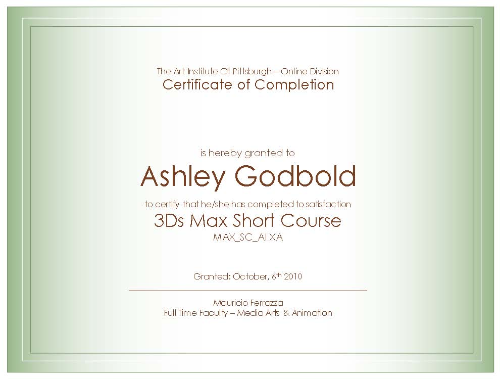 First Color Theory Assignment And Certificates Of Completion Dr