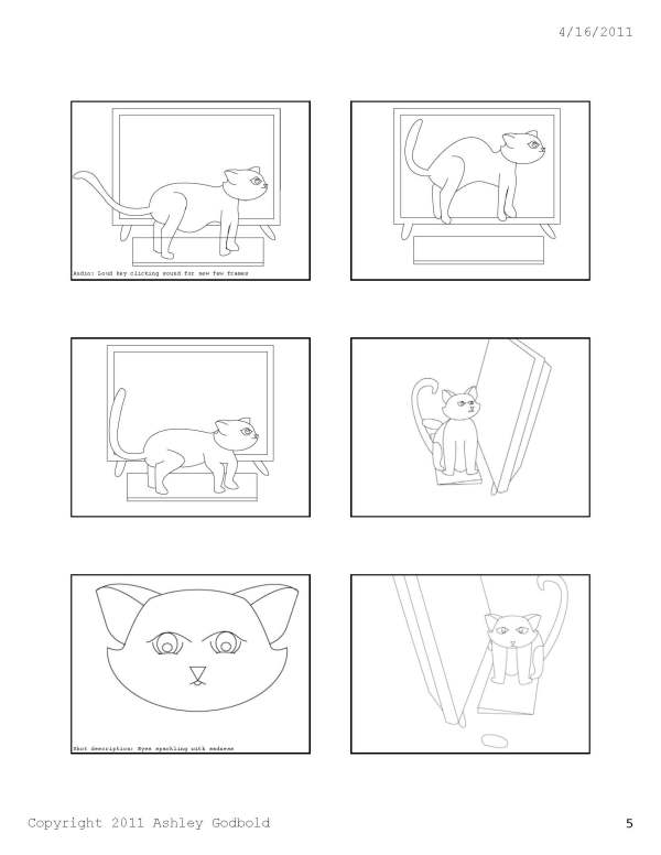 "GAD 212-Digital Storytelling-""Cat and Mouse"" Storyboard-Page 5"