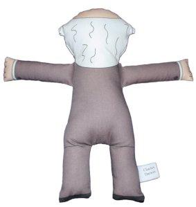 Darwin plush doll back