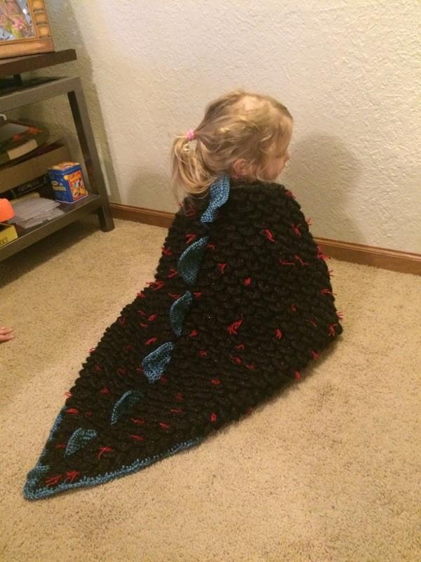 Crochet Dragon Blanket Crochet Dragon Blanket